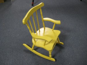 Child's rocking chair- before