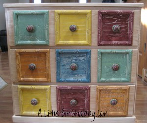 Faux Apothecary 3-Drawer Dresser