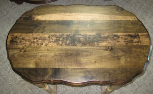 Oval side table top- After