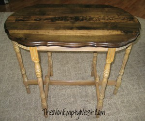 Oval side table- After