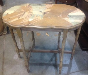 Oval side table- Before